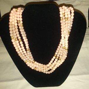 Monet Peach & Coral Necklace Vintage